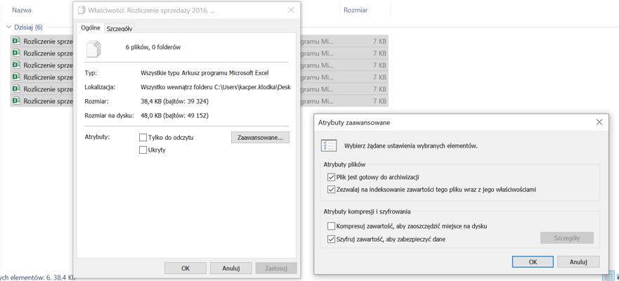 Ochrona poprzez szyfrowanie wybranych folderów i plików pakietu Office 365 w Windows 10