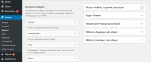 Widgety WordPress - panel zarządzania widgetami i obszarami