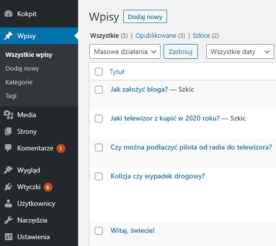 Jak utworzyć i opublikować nowy wpis WordPress?