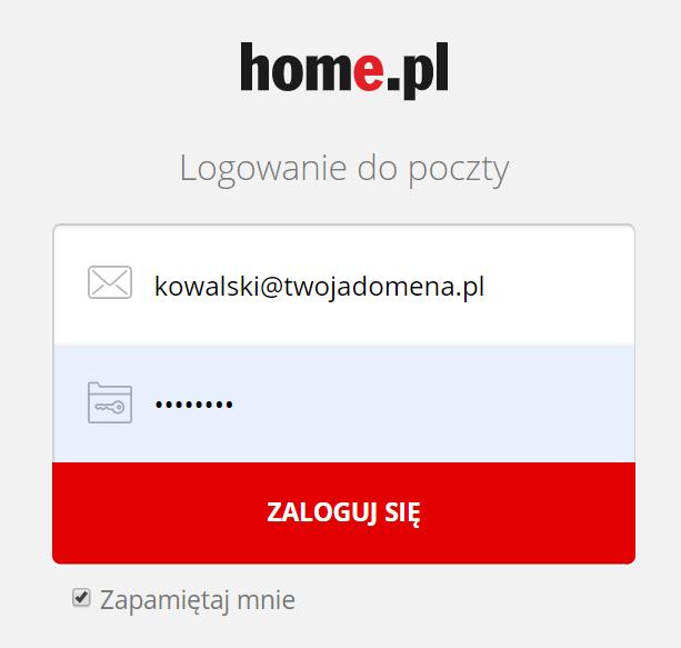 """Funkcja """"Zapamiętaj mnie"""" w Poczcie home.pl"""