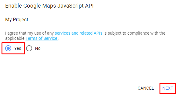 Rejestracja klucza Google Maps API