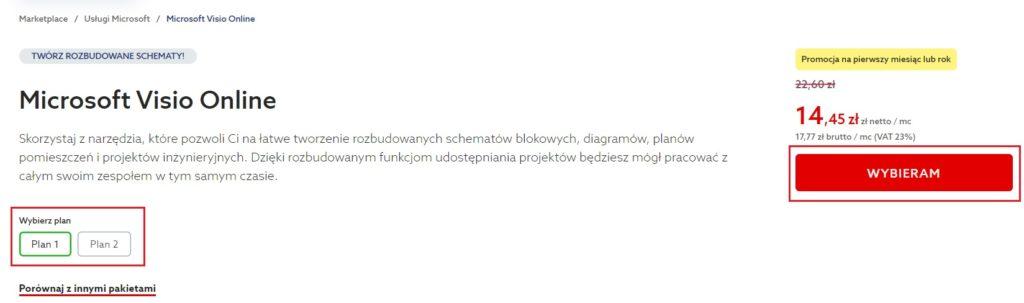 Jak zamówić i zarejestrować Microsoft Visio Online w home.pl?