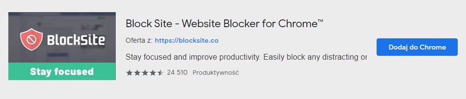 Blokowanie stron internetowych w przeglądarce Google Chrome