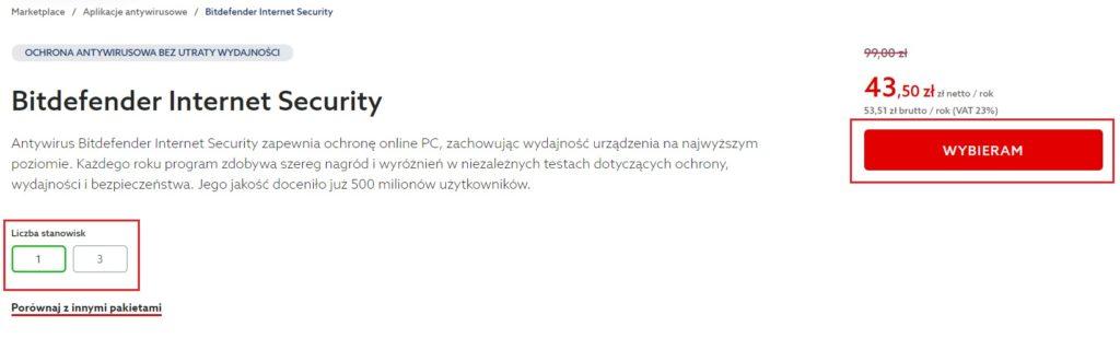 Jak zamówić program antywirusowy Bitdefender w home.pl?