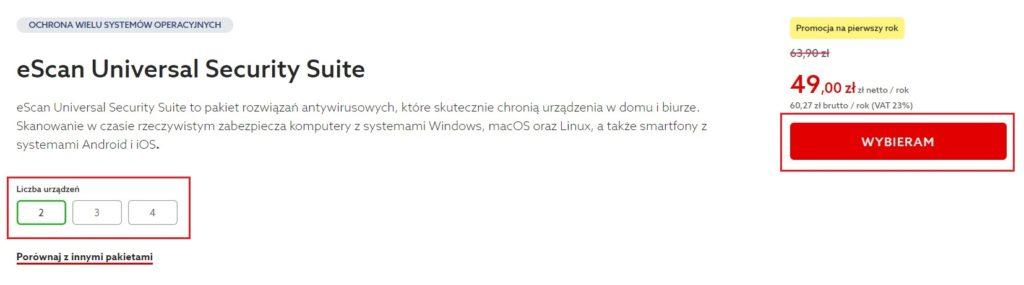 Jak zamówić program antywirusowy eScan w home.pl?