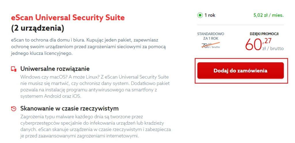 Jak zamówić program antywirusowy eScan?
