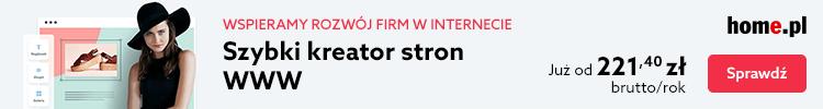 Zbuduj samodzielnie stronę WWW za pomocą Kreatora WWW w home.pl