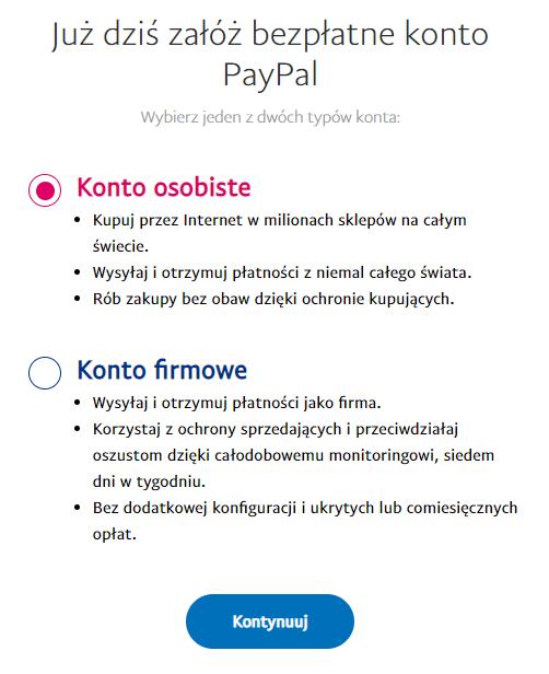 Jak założyć osobiste konto PayPal?