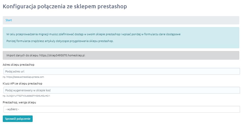 Migracja sklepu Prestashop na inną platformę sklepu w home.pl