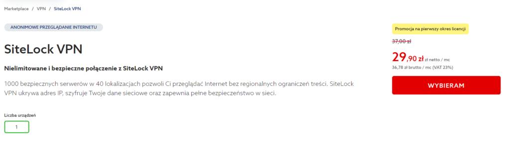 Jak zamówić Sitelock VPN w home.pl?