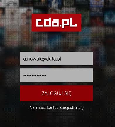 Zaloguj się do konta CDA.pl na urządzeniu mobilnym w aplikacji