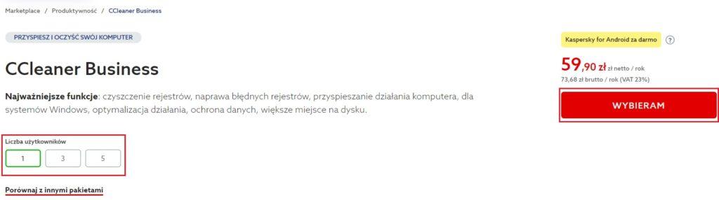 Jak zamówić CCleaner Business w home.pl?