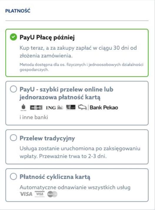 PayU Płacę później – kup teraz i zapłać w ciągu 30 dni