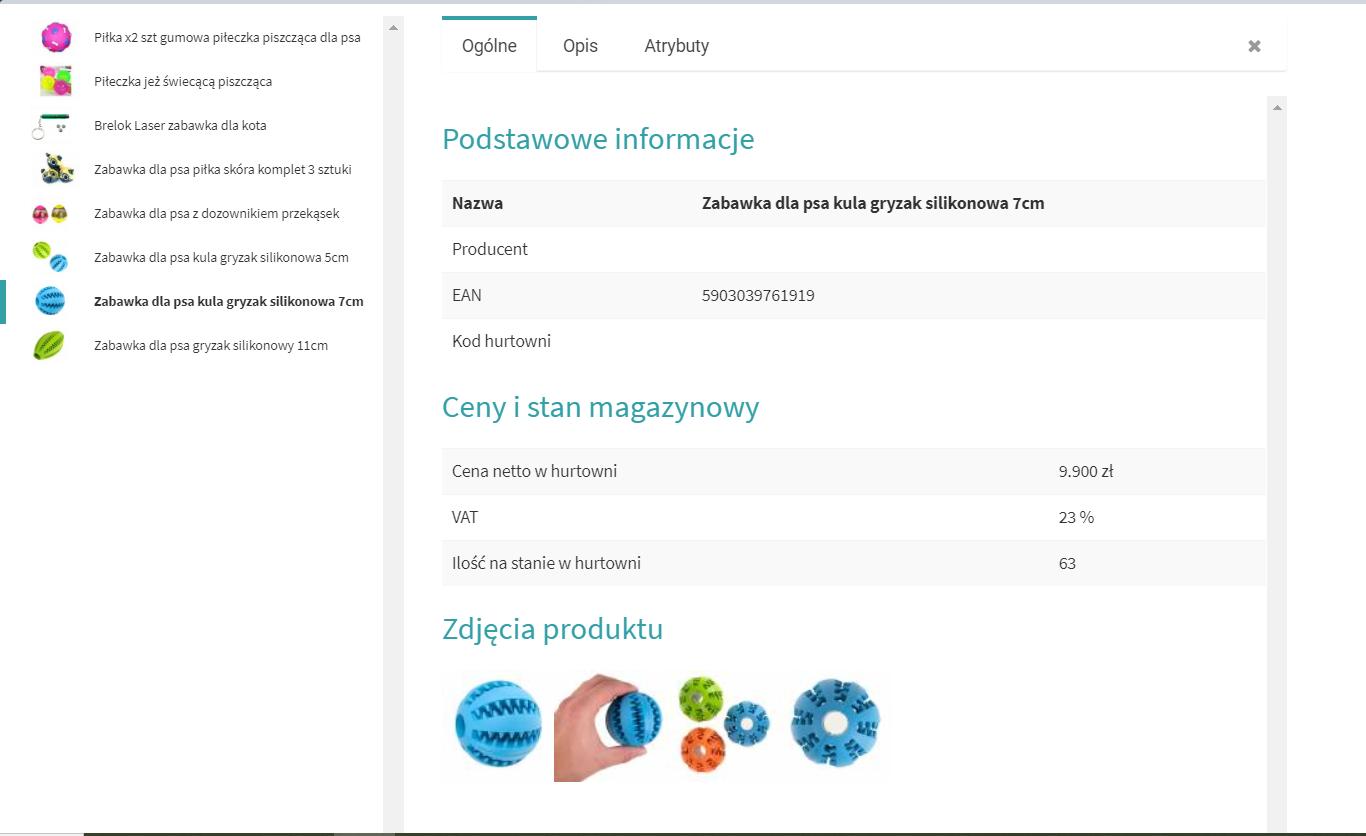 Aplikacja eSklep - integracja z hurtownią Annapol