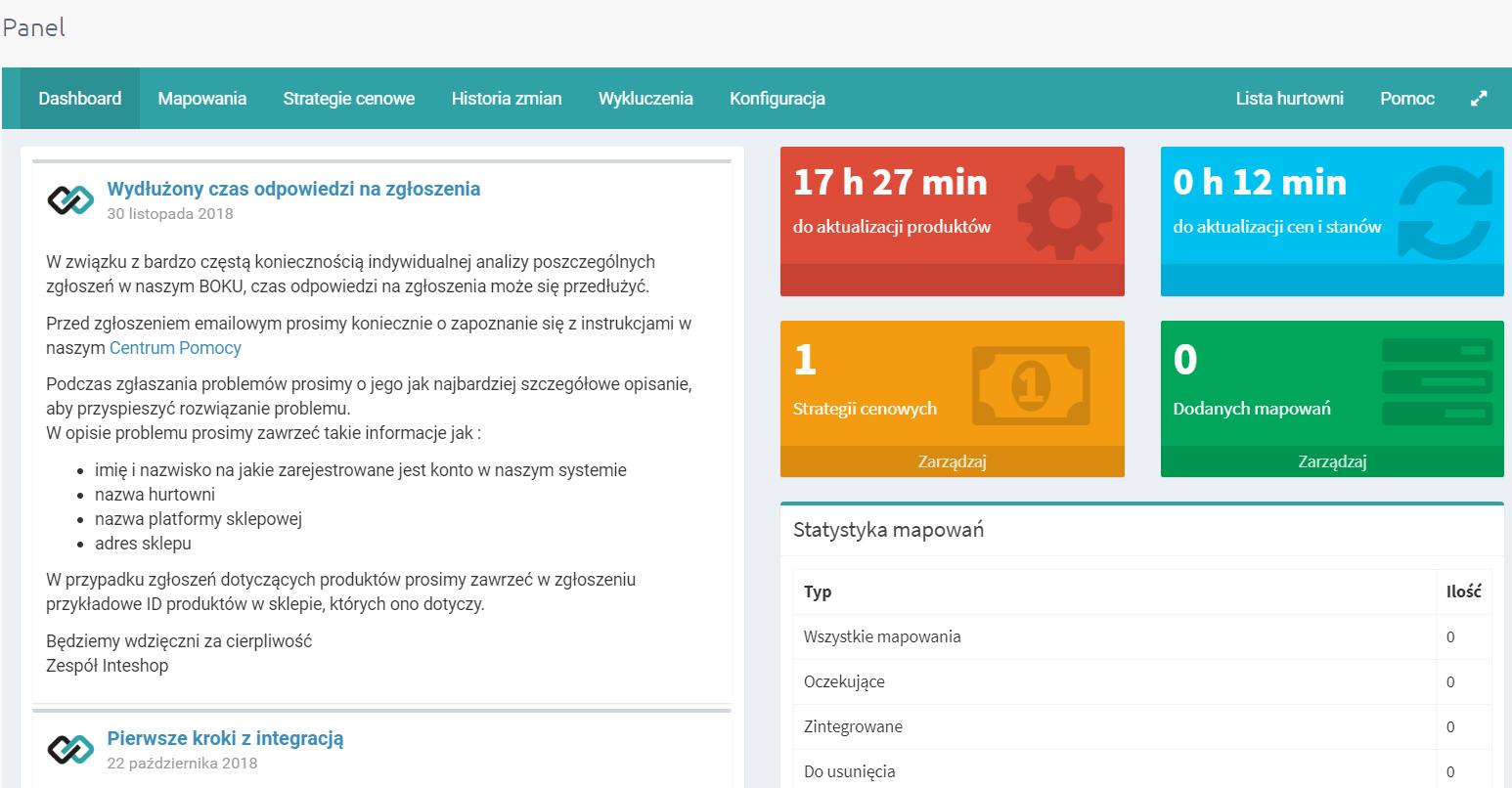 Aplikacja eSklep - integracja z hurtownią Ikonka