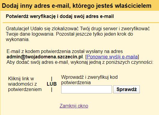 Konfiguracja zewnętrznego konta e-mail w poczcie Gmail