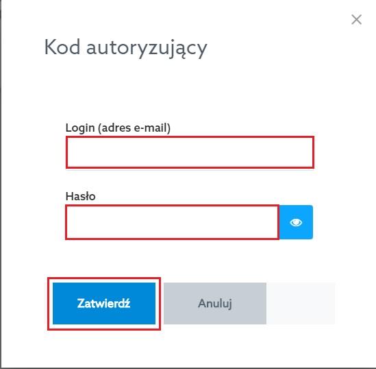 Kod autoryzujący - Panel klienta home.pl