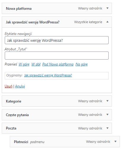 Jak utworzyć menu rozwijane w WordPress?