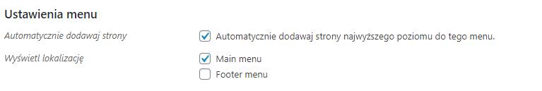 Automatyczne dodawanie elementów do nowego menu