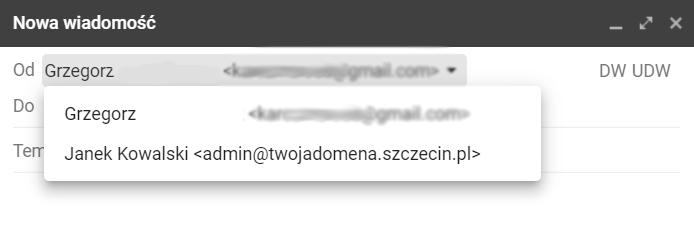 Wysyłanie wiadomości e-mail z poczty Gmail