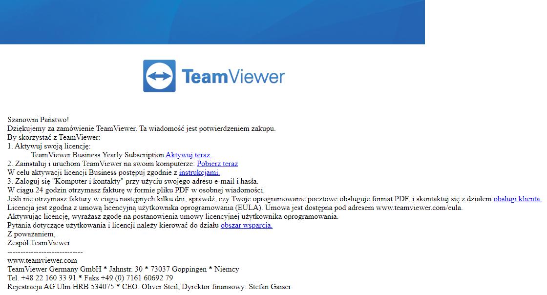 Jak aktywować licencję TeamViewer dla firm?