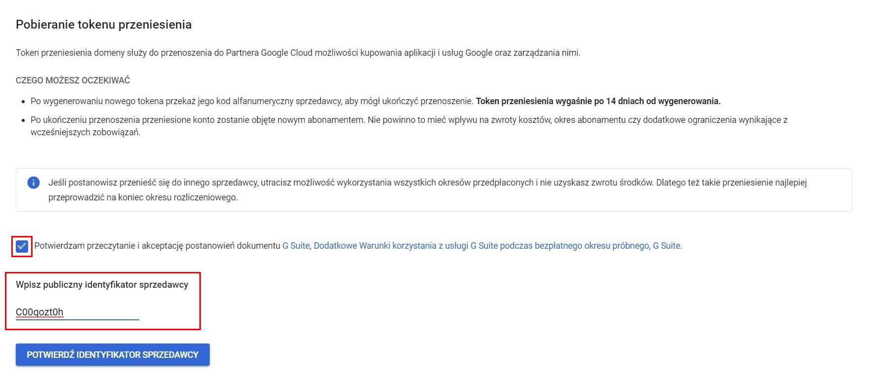 Jak przenieść konto Google do sprzedawcy? Migracja G Suite przy użyciu tokena przeniesienia
