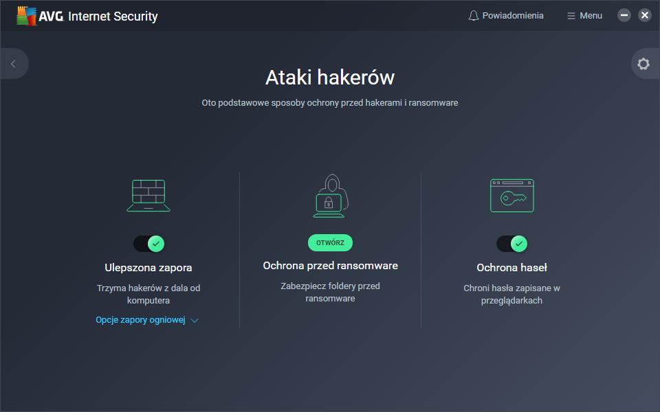 Zaawansowane funkcje bezpieczeństwa AVG