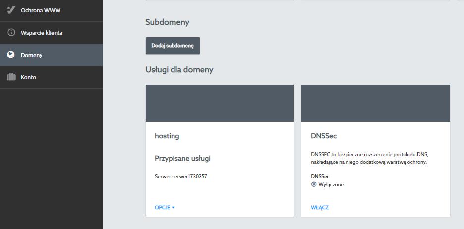 DNS SEC w Panelu klienta home.pl