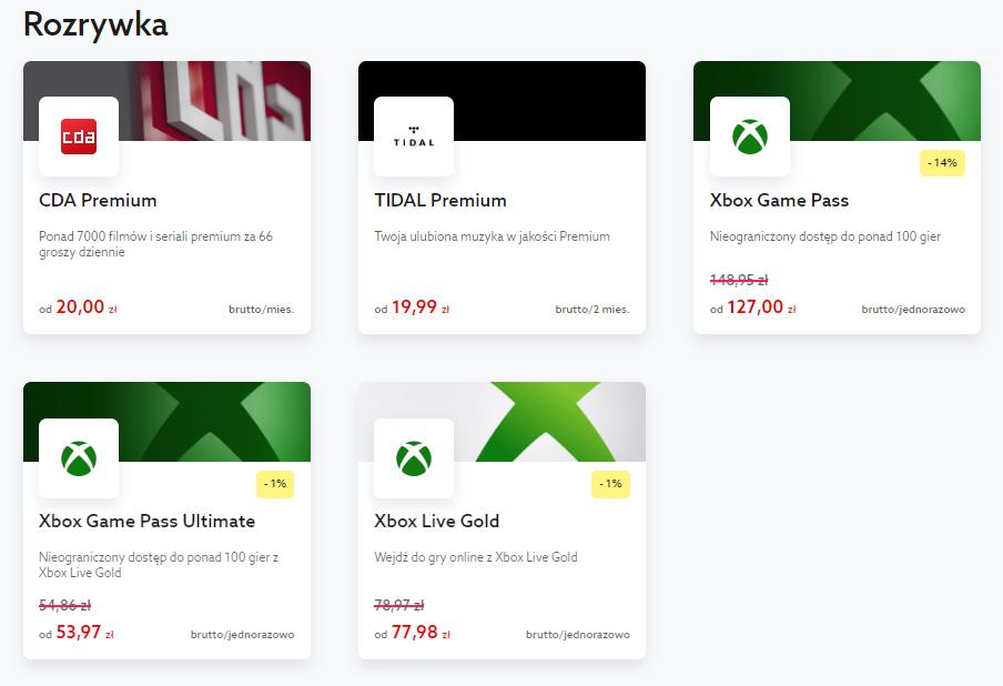 Gdzie kupić Xbox Live Gold lub Game Pass?