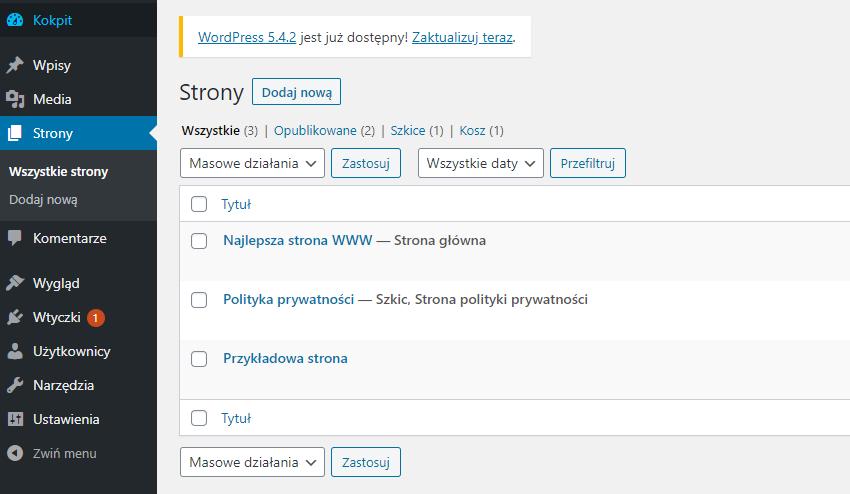 Jak stworzyć nową stronę główną witryny WordPress?