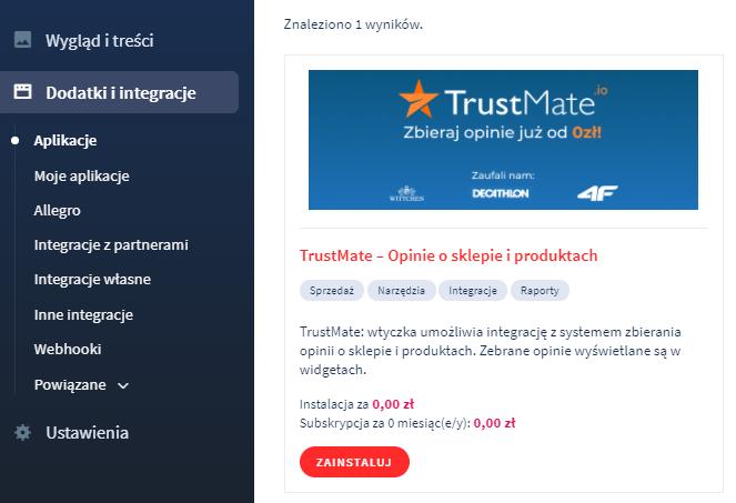 Aplikacja: TrustMate (Krajowy Rejestr Opinii)