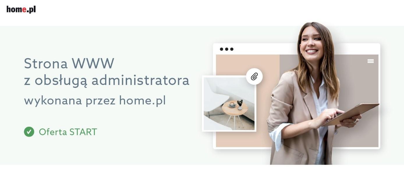 Oferta stron www na abonament w home.pl: Pakiet Start