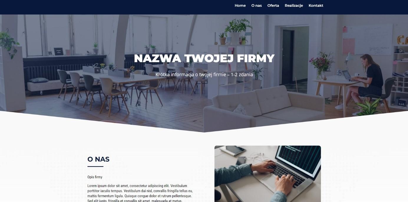 Strona internetowa na abonament: gotowe szablony dla różnych branż