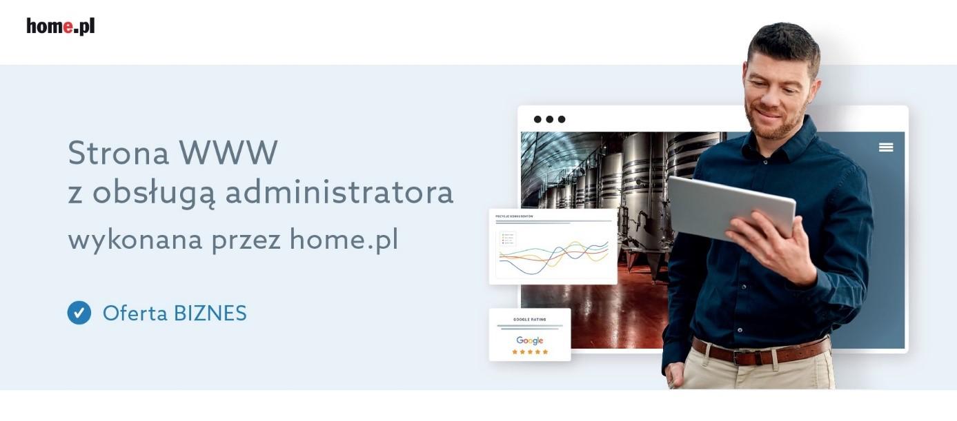 Oferta stron www na abonament w home.pl: Pakiet Biznes