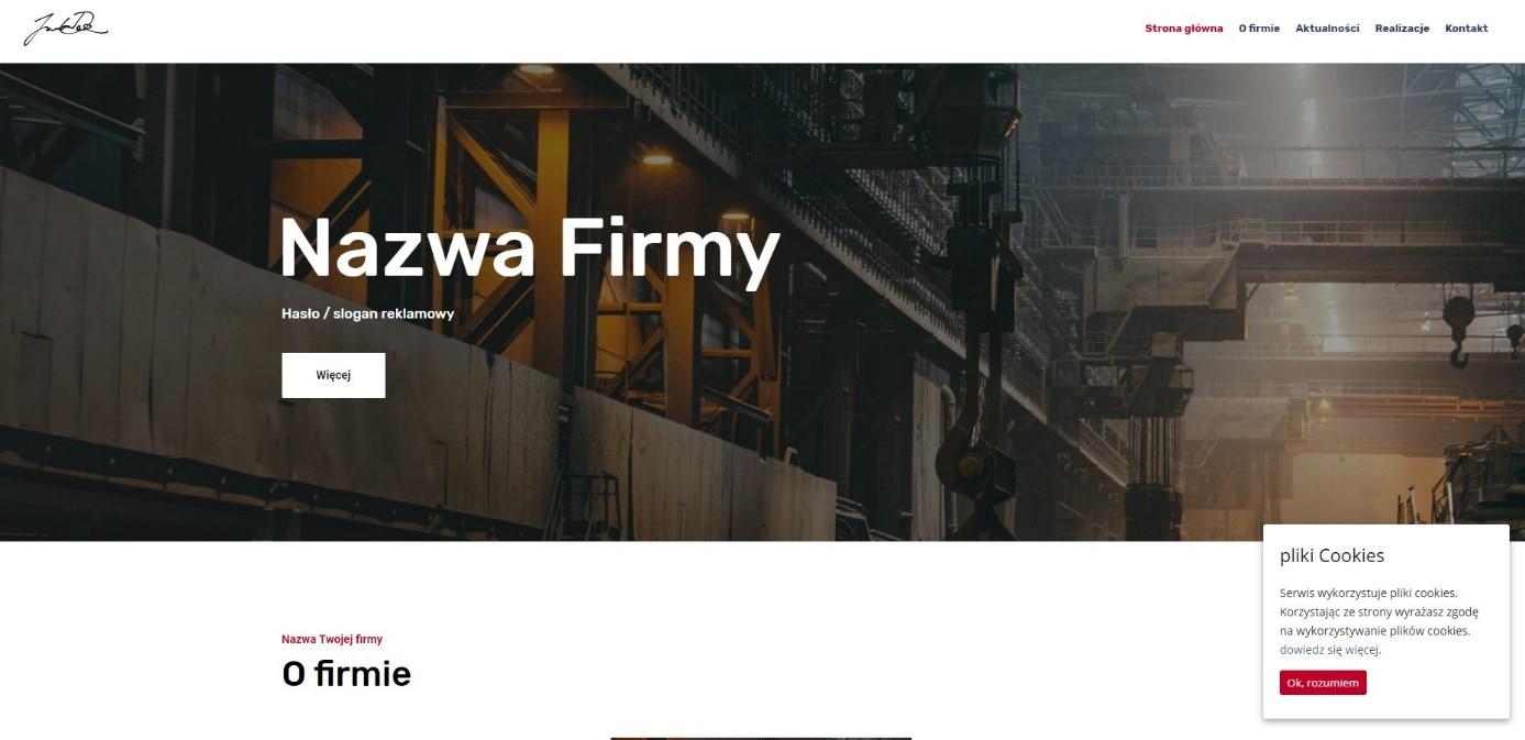 Szablon strony www dla przemysłu