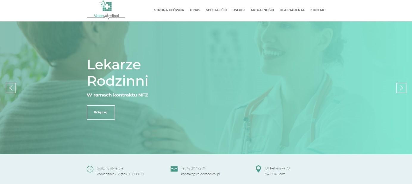 Szablon strony internetowej dla przychodni i szpitali