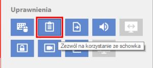 AnyDesk - Przejdź do menu uprawnień w celu zezwolenia na synchronizację schowka