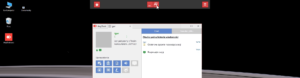 Tryb pełnoekranowy AnyDesk - widok wyłączenia