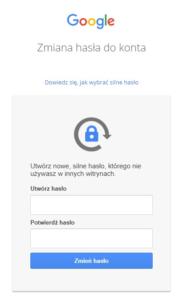 Ustawienie nowego hasła do konta Google Workspace
