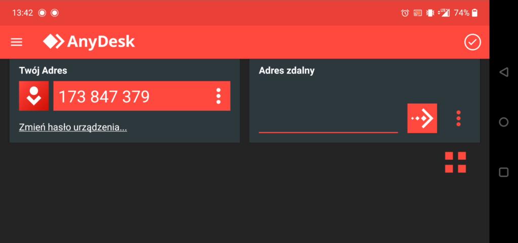 Aplikacja mobilna AnyDesk