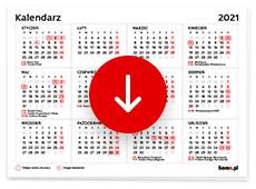 Kalendarz 2021 do druku pdf - dni wolne od pracy, długie weekendy