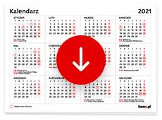 Kalendarz 2021 do druku pdf - wykaz świąt