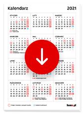 Kalendarz 2021 do druku pdf - niedziele handlowe i niehandlowe