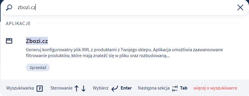Instalacja aplikacji zbozi.cz - aplikacje