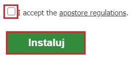 Aplikacja zbozi.cz - przycisk Instaluj