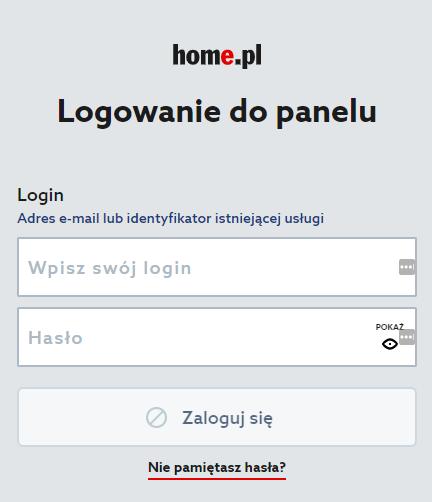 Dodawanie danych logowania strony w LastPass - logowanie do panelu