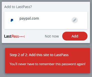 Dodawanie hasła przy pierwszym logowaniu - paypal step 2