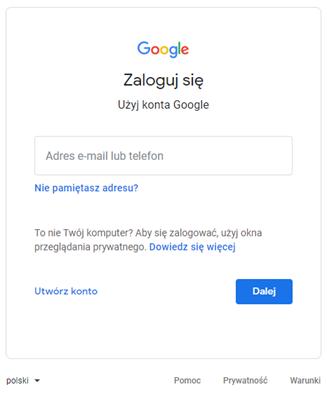 Logowanie Google Classroom - instrukcja - zaloguj się