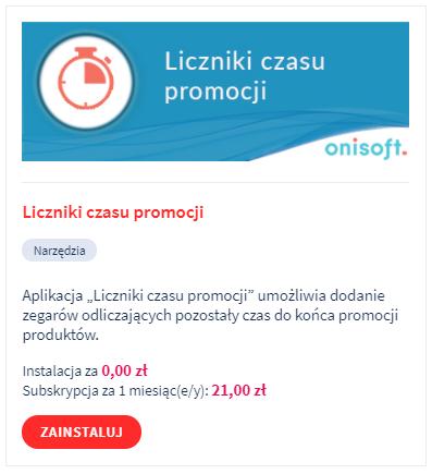 Aplikacja: Liczniki czasu promocji