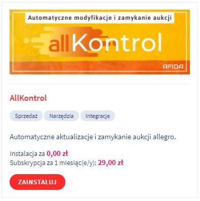 Aplikacja: Allkontrol